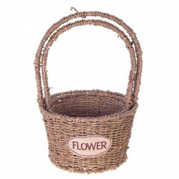 Кашпо flower, набор из 2-х шт, l20/15 w20/16 h35/30 см