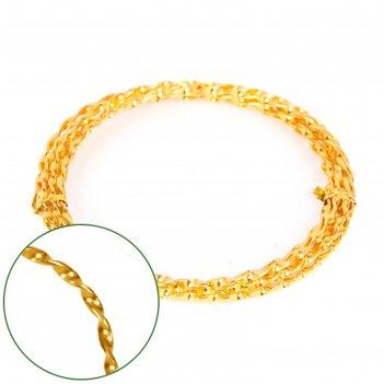 Проволока декоративная «спираль» 2 мм х 2 м, 15 г, золотая