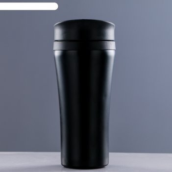 Кружка-термос 450мл, металл/пластик, без ручки микс 9х19см