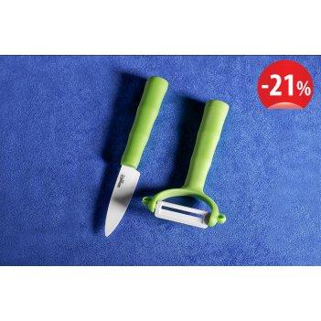 Фруктовый нож и овощечистка bamboo eco-ceramic