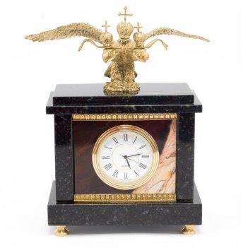 Часы двуглавый орел яшма