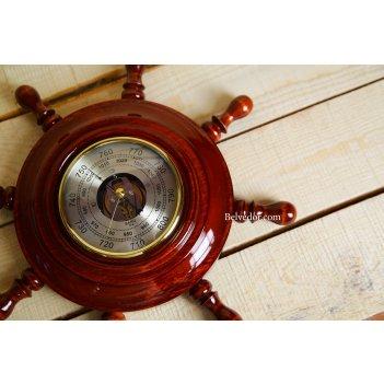 Шбст-с03 штурвал сувенирный, барометр (8ручек), открытый/закрытый механизм