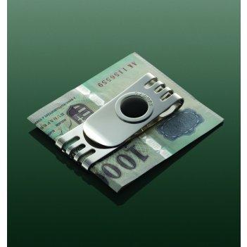 Клип для денег «соверен» с круглой вставкой