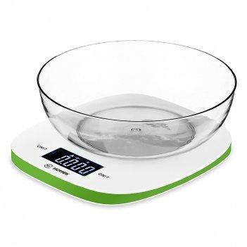 Весы кухонные с чашей, пластик 8*19*19 см. макс. в...
