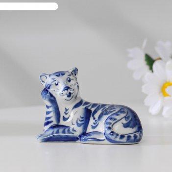 Сувенир тигр барс, гжель