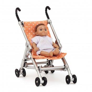 Игровой набор аксессуаров для кукольного домика «коляска с пупсом»