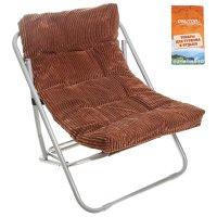 Кресло складное briz 60x64x74 см, цвет: коричневый