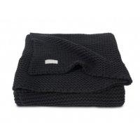 Плед вязаный heavy knit, размер 75х100 см, цвет чёрный