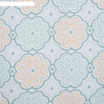 Тюль этель дамаск цвет зелёный 135х250 см, вуаль, 100% п/э