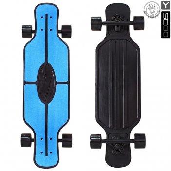 408-b скейтборд y-scoo longboard shark tir 31″ пластик 79х22 с сумко