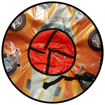 Тюбинг 92 см тачка оранжевая