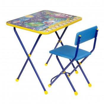 Набор детской мебели познайка. математика в космосе складной: стол, стул м