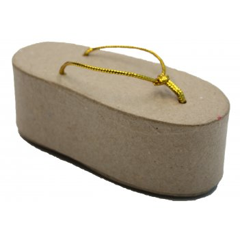Коробочка в форме шлепанца из папье-маше, 10,5 х 4,5 х 3,5 см