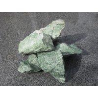 Камень для бани жадеит колотый 15 кг , ведро