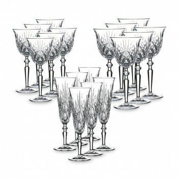 Набор из 18-ти бокалов palais, материал: хрустальное стекло, n103547, nach