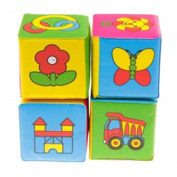 Развивающий набор для игры в ванной «кубики. учим слова», 4 шт.