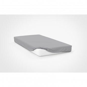 Простыня, размер 180x200x20 см, цвет серый