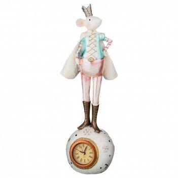 Часы настольные кварцевые мыши щелкунчик 10,5*9*30 см. диаметр циферблата=