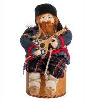 Rk-725 кукла-шкатулка дед с балалайкой