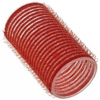 """Бигуди 36 мм красные с внешним слоем ворсистой ткани """"липучка"""","""