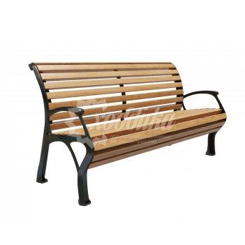 Скамейка чугунная «голландия с подлокотниками»