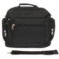 7802 п600 сумка мужская 27/44*20*34см, трансформер, черный, 2отд, нар карм
