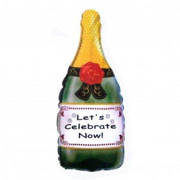 Шар фольгированный 24 бутылка шампанского