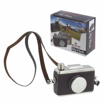 Фляжка фотоаппарат в чехле (300мл), l9.5 w3.5 h11 см