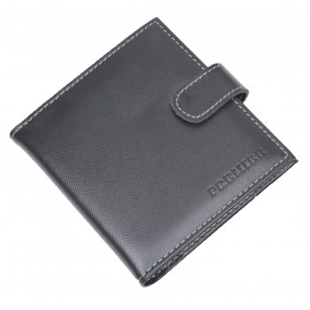 Кредитница, размер 12х12,5 см, н/к, чёрный сафьян/бежевый сафьян