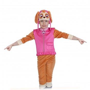Карнавальный костюм скай, щенячий патруль, р-р 28-30, рост 104-110 см