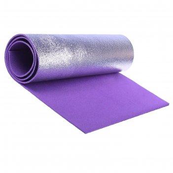 Ковер туристический (фиолетовый, бирюзовый, желтый;фольга с одной ст.) тол