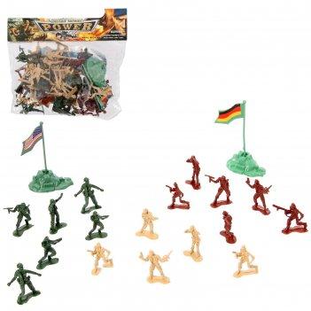 Набор солдатиков мировое сражение, с аксессуарами
