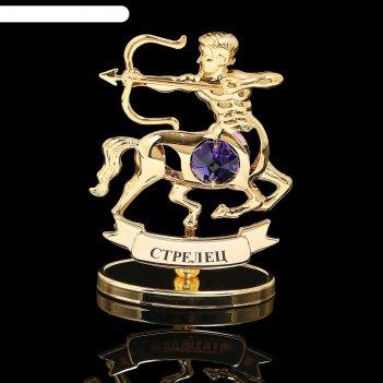 Сувенир знак зодиака «стрелец», 9,5x4x6,5 см, с кристаллом сваровски