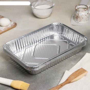 Набор форм для выпечки из фольги 31х21х5 см, 10 шт