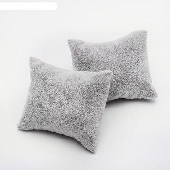 Подушка для украшений 7*8*3,5 см, цвет серый