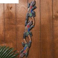Панно настенное три геккона 50 см