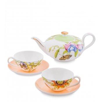 Jk- 11 чайный набор на 2 перс.сады примадонны (pavone)