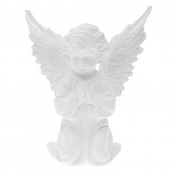 Статуэтка ангел с крыльями большая, белая