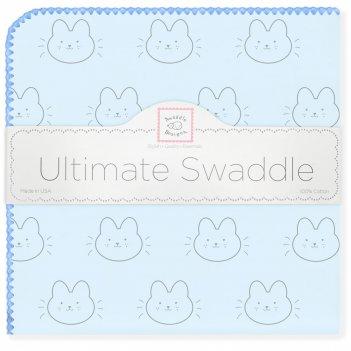 Пеленка фланель для новорожденного swaddledesigns ultimate bonjour bunnie