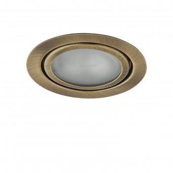 Светильник встраиваемый mobi inc 20вт g4 зеленая бронза