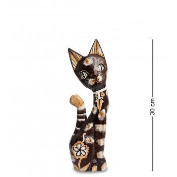 99-142 статуэтка кошка 30 см (албезия, о.бали)