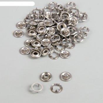 Кнопки рубашечные d9,5мм (наб 100шт цена за наб) d031 бежевый металл