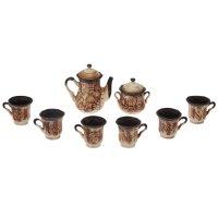 Чайный набор: чайник-1 л, сахарница-0,5 л, 6 кружек- 0,17 л