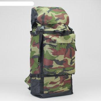 Рюкзак туристический, 50 л, отдел на шнурке, 3 наружных кармана, цвет хаки