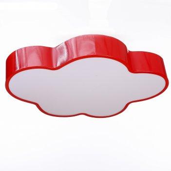 Люстра облачко led 3 режима 68вт красный 47,5х52х8 см