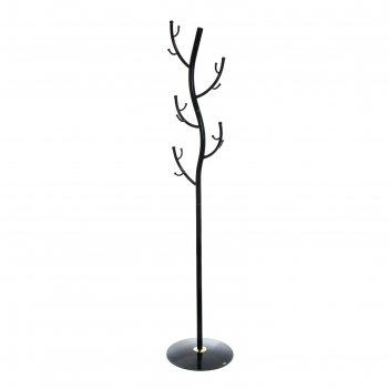Вешалка-стойка дерево, черная