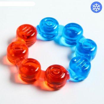 Игрушка прорезыватель кольцо с водой, цвета микс