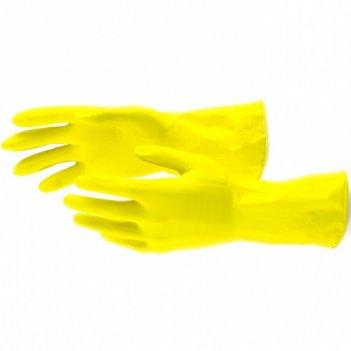 Перчатки хозяйственные, латексные, m сибртех