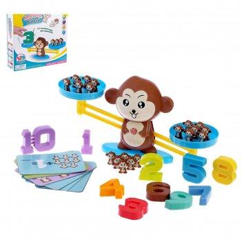 Обучающие весы обезьянка, цифры,карточки,фигурки