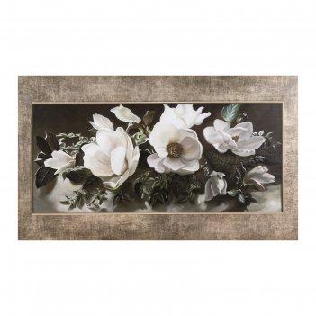Картина на холсте цветочная композиция 60*100 см